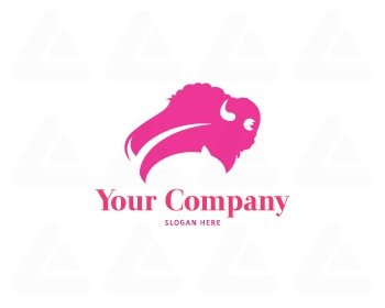 Ready made logo: Bison