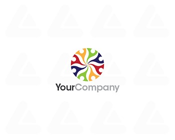Ready made logo: colourful