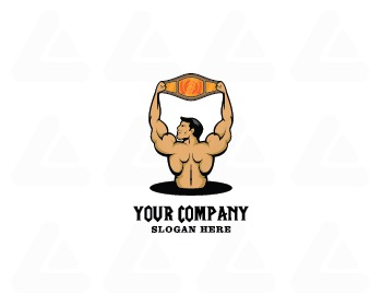 Ready made logo design: Bodybuilding Champion